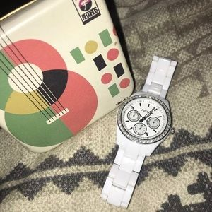 White & Silver Fossil Watch